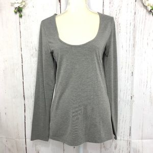 GUESS LONG SLEEVE SWEATSHIRT GRAY  SIZE XL/TG
